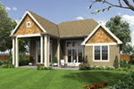 Arts & Crafts House Plan Rear Photo 01 - Kerston Craftsman Ranch Home 011D-0573 | House Plans and More