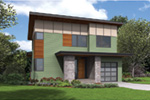 Beach & Coastal House Plan Front Image - DuPont Modern Home 011D-0586 | House Plans and More