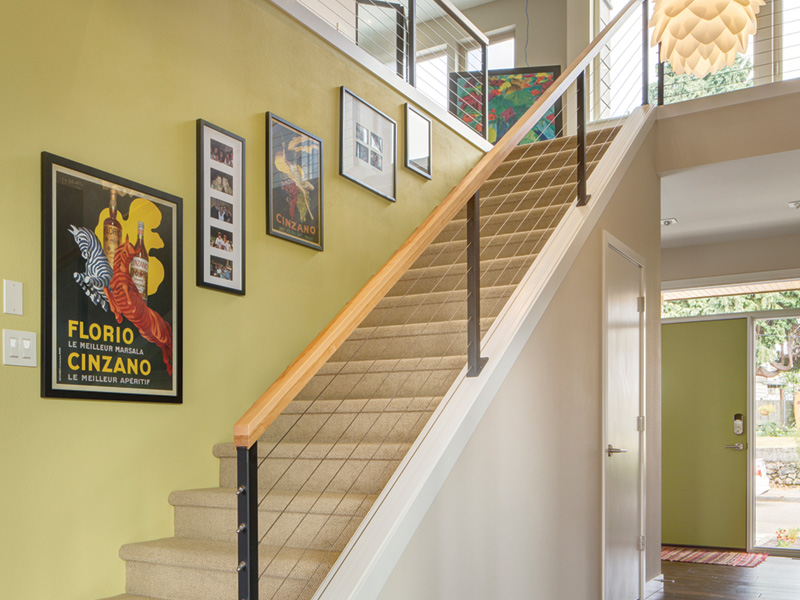 Beach & Coastal House Plan Stairs Photo 01 - DuPont Modern Home 011D-0586 | House Plans and More