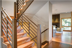 Beach & Coastal House Plan Stairs Photo 02 - Modern Home Floor with Elevator | House Plans and More
