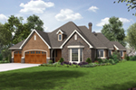 Traditional House Plan Front of Home - Drexel European Ranch Home 011D-0590 | House Plans and More
