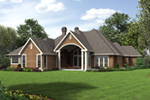 Traditional House Plan Rear Photo 01 - Drexel European Ranch Home 011D-0590 | House Plans and More