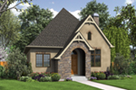 Rustic Home Plan Front of Home - Boyle European Cottage Home 011D-0591 | House Plans and More
