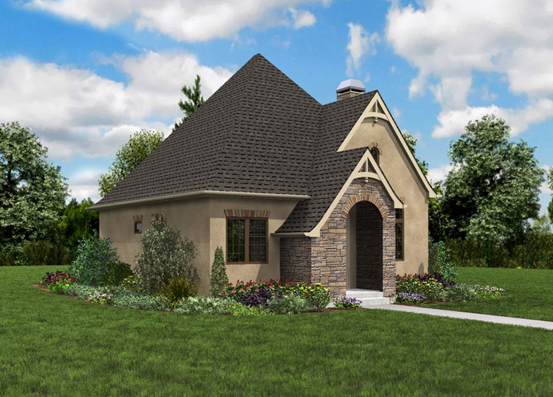 Rustic Home Plan Front Photo 01 - Boyle European Cottage Home 011D-0591 | House Plans and More
