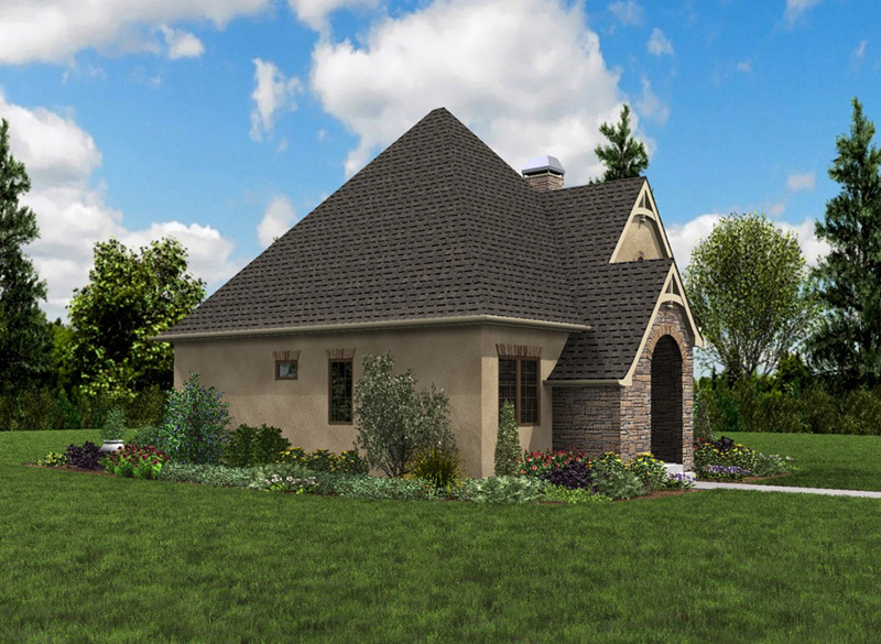 Rustic Home Plan Front Photo 02 - Boyle European Cottage Home 011D-0591 | House Plans and More