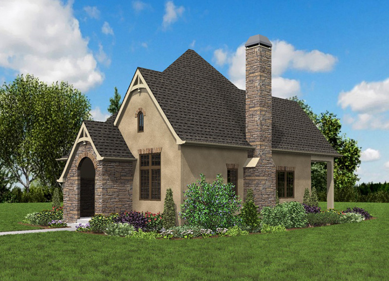 Rustic Home Plan Front Photo 03 - Boyle European Cottage Home 011D-0591 | House Plans and More