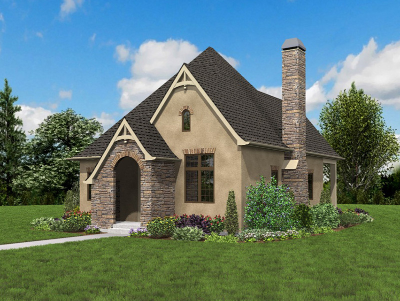Rustic Home Plan Front Photo 04 - Boyle European Cottage Home 011D-0591 | House Plans and More
