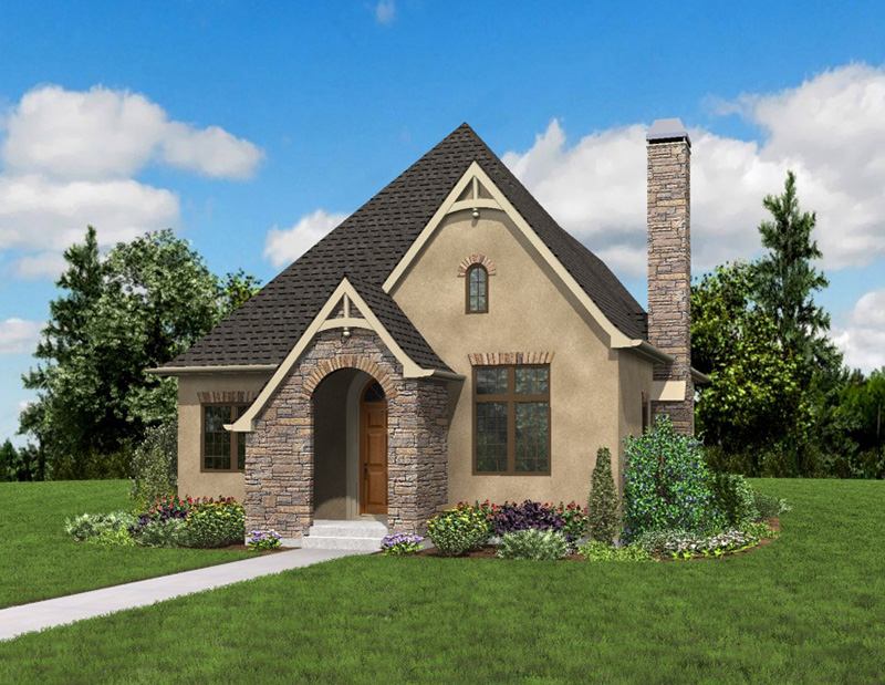 Rustic Home Plan Front Photo 05 - Boyle European Cottage Home 011D-0591 | House Plans and More