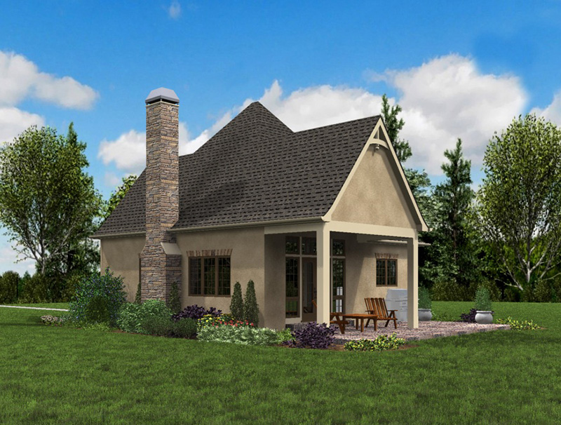 Rustic Home Plan Front Photo 08 - Boyle European Cottage Home 011D-0591 | House Plans and More