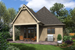 Rustic Home Plan Rear Photo 01 - Boyle European Cottage Home 011D-0591 | House Plans and More