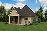 English Cottage House Plan Rear Photo 02 - Boyle European Cottage Home 011D-0591 | House Plans and More