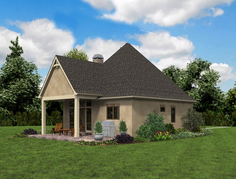 Rustic Home Plan Rear Photo 03 - Boyle European Cottage Home 011D-0591 | House Plans and More