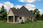 English Cottage House Plan Rear Photo 03 - Boyle European Cottage Home 011D-0591 | House Plans and More