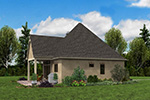 Rustic Home Plan Rear Photo 04 - Boyle European Cottage Home 011D-0591 | House Plans and More