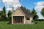 Rustic Home Plan Rear Photo 05 - Boyle European Cottage Home 011D-0591 | House Plans and More