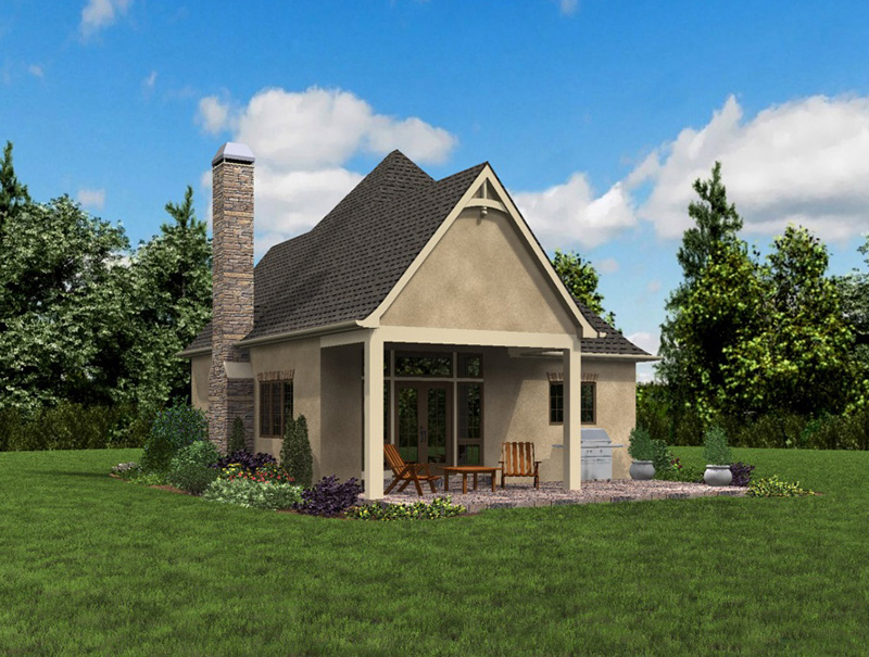 Rustic Home Plan Rear Photo 06 - Boyle European Cottage Home 011D-0591 | House Plans and More