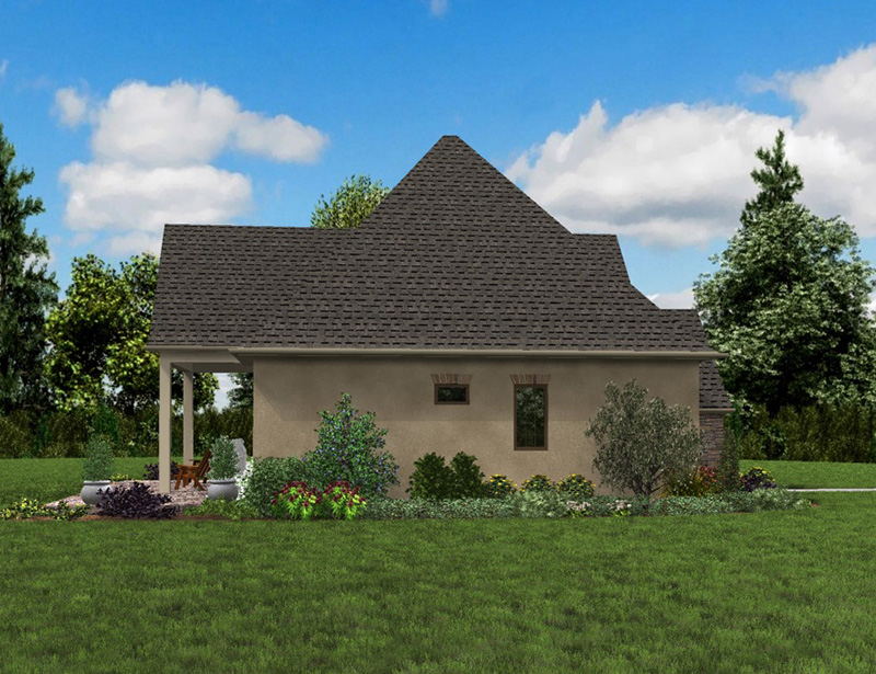 Rustic Home Plan Side View Photo 01 - Boyle European Cottage Home 011D-0591 | House Plans and More