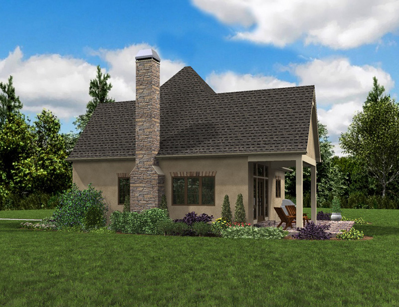 Rustic Home Plan Side View Photo 02 - Boyle European Cottage Home 011D-0591 | House Plans and More
