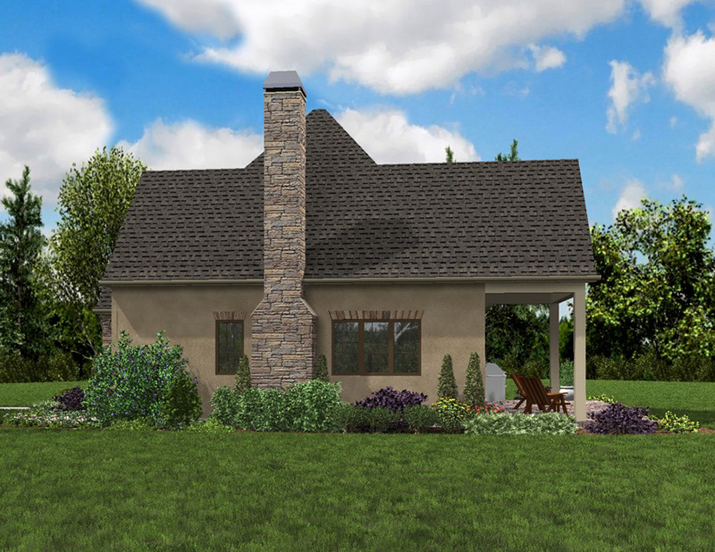 Rustic Home Plan Side Photo 03 - Boyle European Cottage Home 011D-0591 | House Plans and More