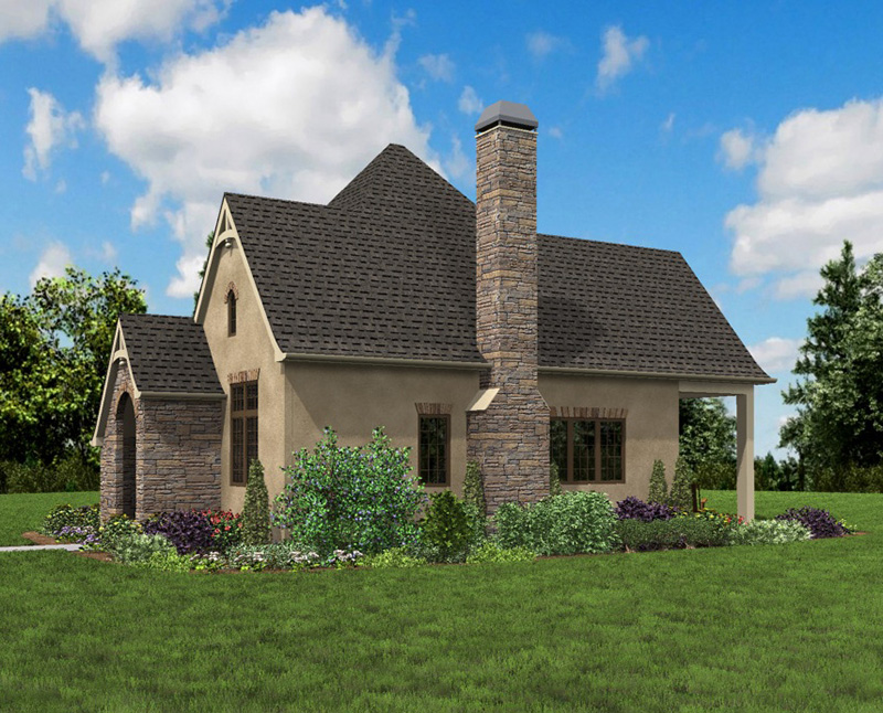 Rustic Home Plan Side Photo 04 - Boyle European Cottage Home 011D-0591 | House Plans and More