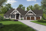 Country House Plan Front of House 011D-0606