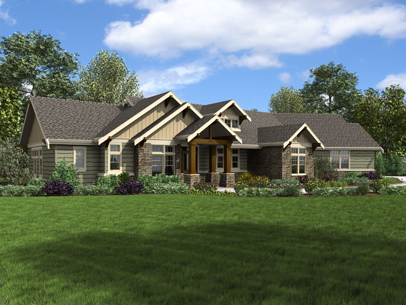 Craftsman House Plan Front of Home - 011D-0607 | House Plans and More