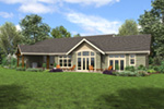 Craftsman House Plan Rear Photo 01 - 011D-0607 | House Plans and More