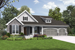 Vacation House Plan Front of House 011D-0608