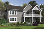 Country French House Plan Rear Photo 01 - Mandy Lane Country Home 011D-0608   House Plans and More