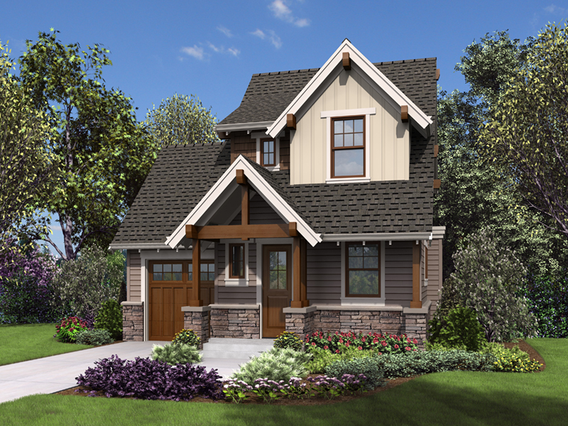 Rustic Home Plan Front of Home -  011D-0612 | House Plans and More