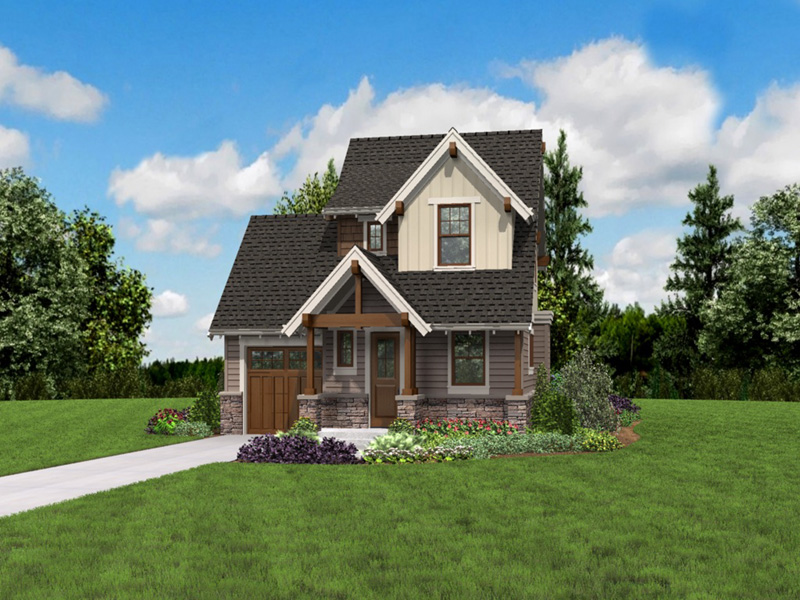 Rustic Home Plan Front Photo 01 -  011D-0612 | House Plans and More