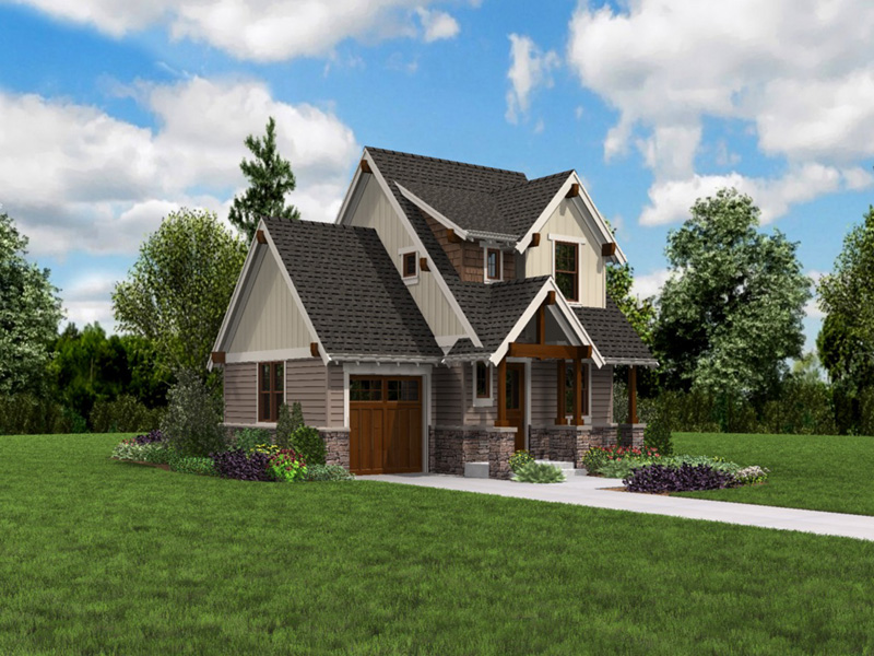 Rustic Home Plan Front Photo 03 -  011D-0612 | House Plans and More