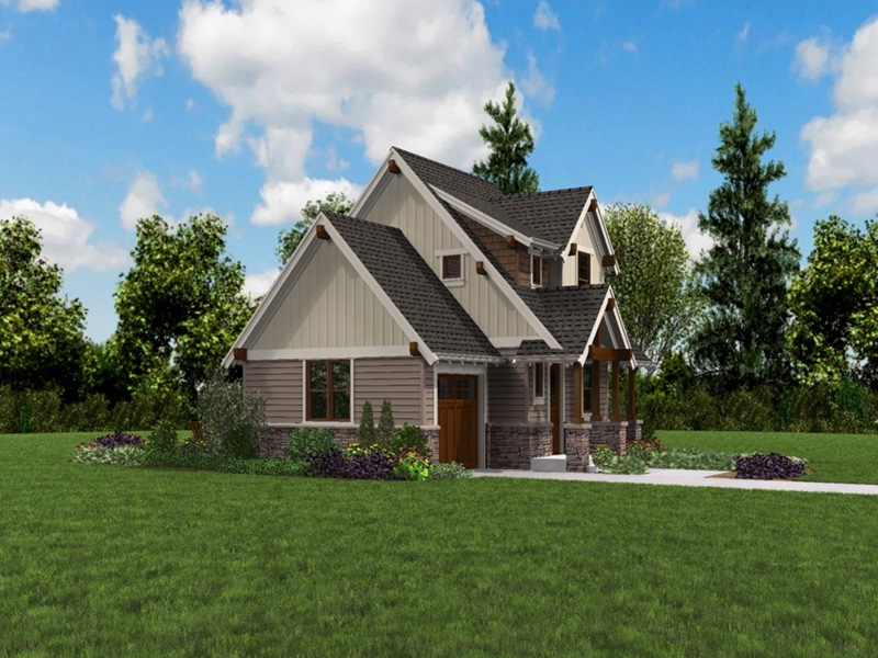 Rustic Home Plan Front Photo 04 -  011D-0612 | House Plans and More