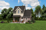 Rustic Home Plan Rear Photo 04 -  011D-0612 | House Plans and More