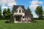 Rustic Home Plan Rear Photo 05 -  011D-0612 | House Plans and More