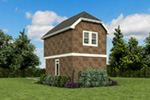 Shingle House Plan Rear Photo 02 -  011D-0616 | House Plans and More