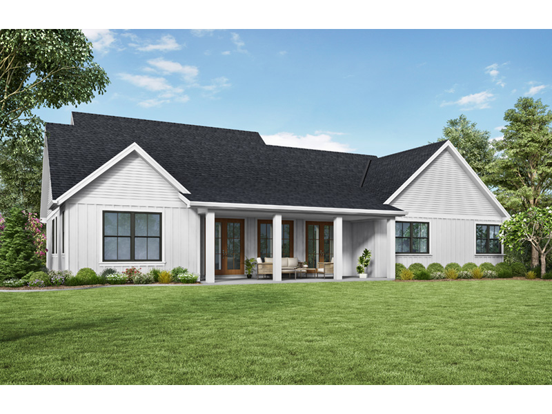 Country House Plan Rear Photo 01 - Frazier Farm Modern Farmhouse  011D-0617 | House Plans and More