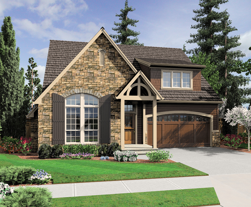 Shingle House Plan Front of Home - Gregory Park Craftsman Home 011D-0626   House Plans and More
