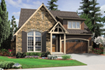 Arts & Crafts House Plan Front of House 011D-0626