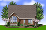 Shingle House Plan Color Image of House - Gregory Park Craftsman Home 011D-0626   House Plans and More