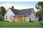 Prairie Style Floor Plan Rear Photo 01 -  011D-0627 | House Plans and More