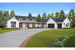 Ranch House Plan Front of Home -  011D-0630 | House Plans and More