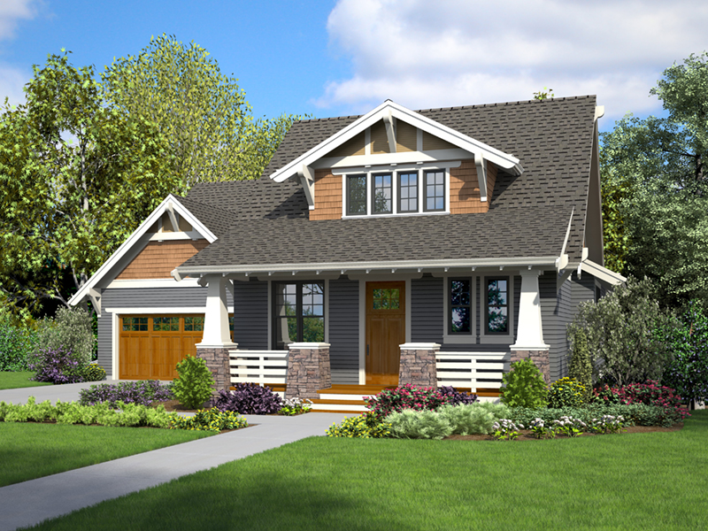 Bungalow House Plan Front of Home - 011D-0647 | House Plans and More