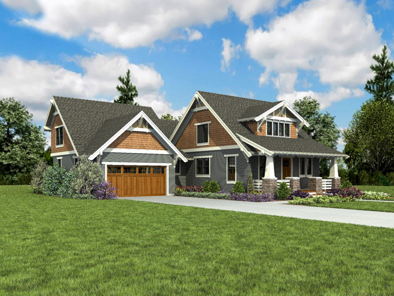 Bungalow House Plan Front Photo 01 - 011D-0647 | House Plans and More