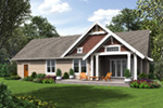 Bungalow House Plan Rear Photo 02 - 011D-0647 | House Plans and More