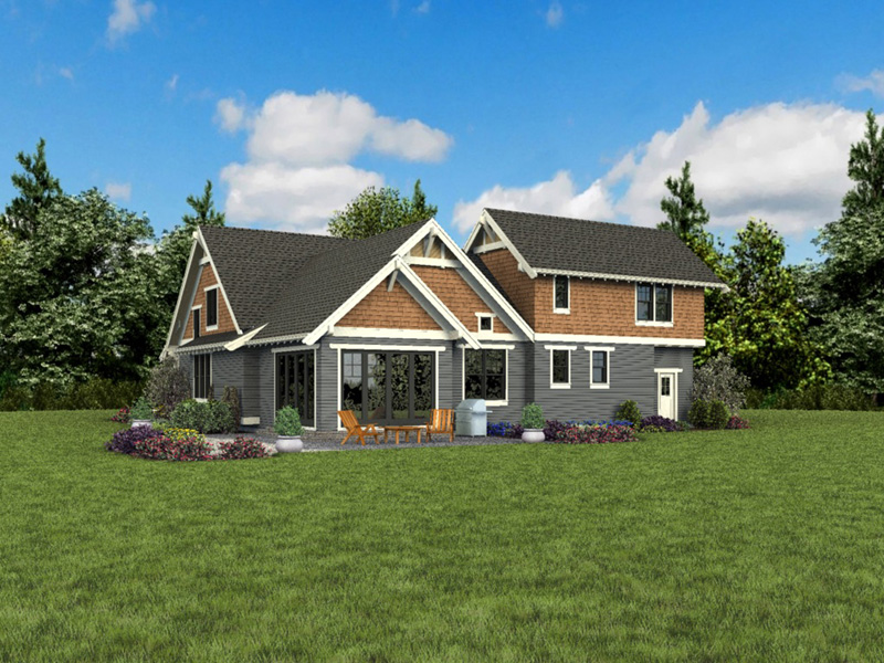 Bungalow House Plan Rear Photo 05 - 011D-0647 | House Plans and More