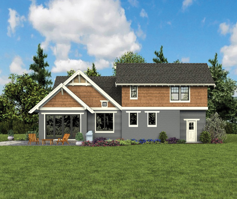 Bungalow House Plan Rear Photo 06 - 011D-0647 | House Plans and More