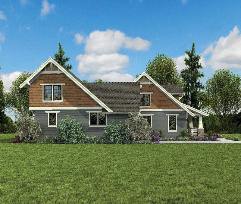 Bungalow House Plan Side View Photo - 011D-0647 | House Plans and More