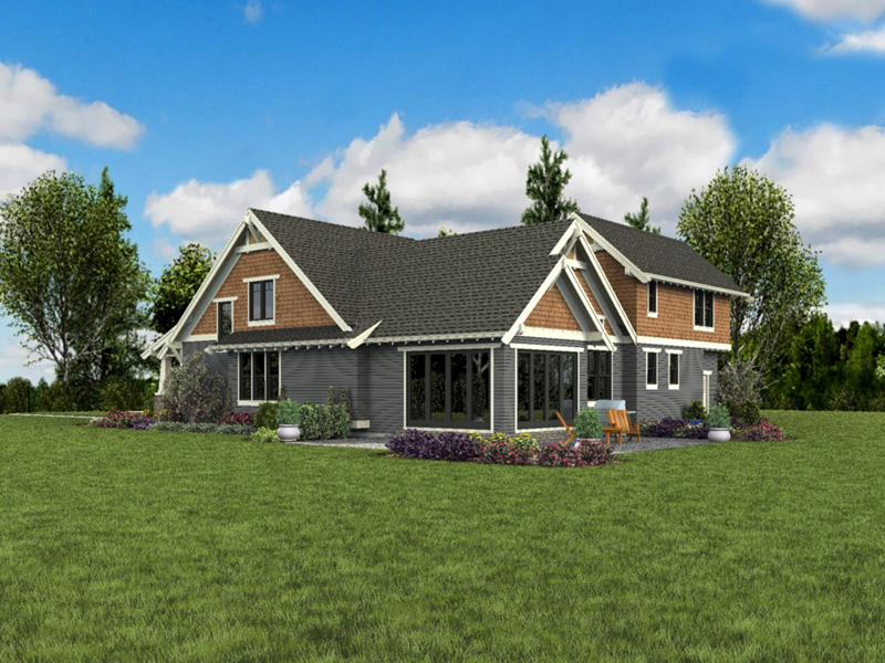 Bungalow House Plan Side View Photo 02 - 011D-0647 | House Plans and More