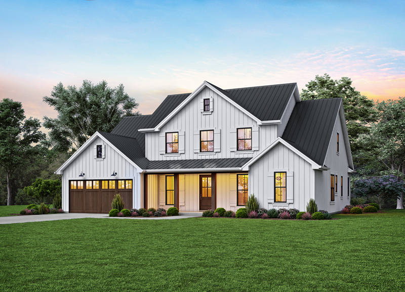 Modern Farmhouse Plan Front of Home - 011D-0653 | House Plans and More